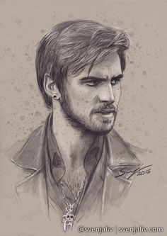 svenjaliv:  Yet another sketch of my favourite sketchy pirate, Killian Jones! art | society6 | redbubble Please don't crop/edit/tweet and please reblog, don't repost. Thank you!