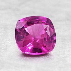 6mm Pink Cushion Sapphire #BrilliantEarth