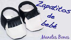 Zapatitos de bebé con patrón | Tutorial DIY