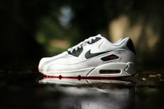 wholesale dealer 4d866 9fefc Nike Air Max 90 Leather (White, Black   Red