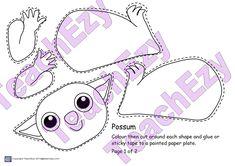 Designed by Teachers Possum Magic Craft - Designed by Teachers New Years Activities, Craft Activities, Mem Fox Books, Possum Magic, Koala Craft, Library Book Displays, Aussie Christmas, Magic Crafts, Magic Party