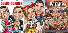 Custom Caricature From Photos Website - Personalized Custom Caricature Gifts Caricature Gifts, Caricature From Photo, Funny Retirement Gifts, Draw On Photos, True Art, Dumb And Dumber, Family Photos, How To Draw Hands, Website