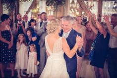 Bride dances with father of the bride at Barn wedding by one thousand words wedding photographers in Dorset and Hampshire www.onethousandwords.co.uk