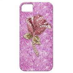 Glitter red rose flower on purple photo print iPhone 5 cases.  $39.95