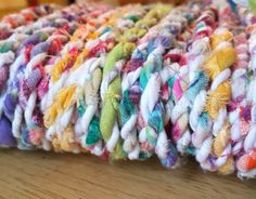 handmade eco friendly twine from fabric scraps, by refabulous