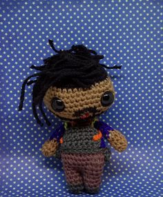 Erik Killmonger amigurumi style PDF crochet pattern inspired by Black Panther