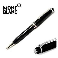"Mont Blanc's ""Meisterstück"" fine writing pen deserves its highly lauded reputation. Crafted with fine metals and silver or gold, these dependable pens will last a lifetime. Find many more like this one at Hands Jewelers!"