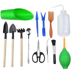 BC51 Plastic Gardening Hand Tools Pot Planting Pruning Mini Gardening Tool Sets