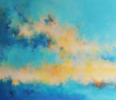 Summers End - Original Abstract Painting, LARGE Modern Wall Art  27x32 inch UNSTRETCHED Rolled in a tube
