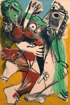 Joseph Abhar -Pablo Picasso, 1969 Homme et femme nus