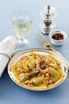 Fazzoletti di carciofi con sugo di gamberi Ecco un primo piatto molto gustoso, delizioso e raffinato, e anche di facile preparazione