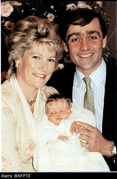Duke And Duchess Of Westminster Pictured With Their Newborn Son Hugh Earl Grosvenor. Stock Photo