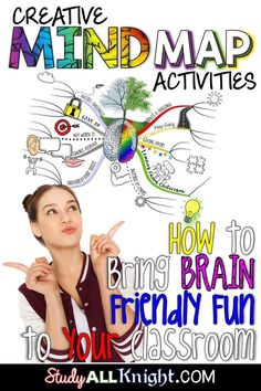 Using a mind map is a great way to get your upper elementary, middle school, & high school students engaged in learning! It allows students to doodle while adding pictures & visuals to their work. It's an inspiring & logical way to engage students in note taking. It also maps out ideas so they can recall material! Use this post to learn all about creative mind map lessons & how they can help students with brainstorming, problem-solving, memorization, planning, researching, pr