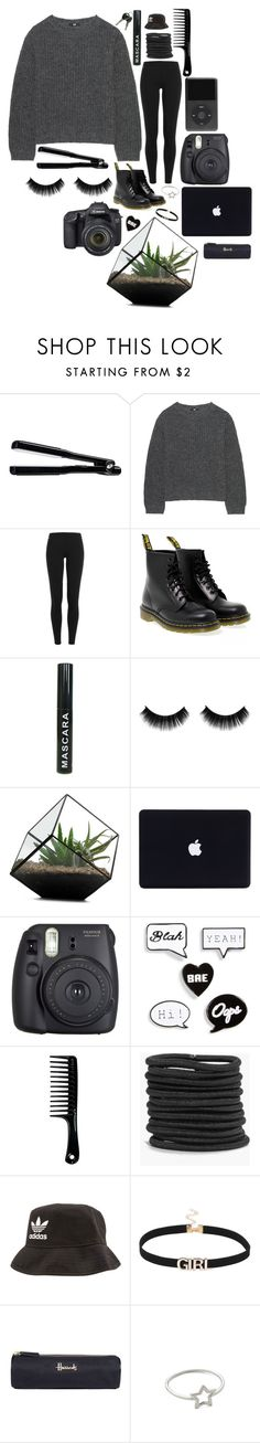 """""""It's cold outside"""" by annnnnnnnnn ❤ liked on Polyvore featuring T3, Uniqlo, Polo Ralph Lauren, Dr. Martens, Fuji, Eos, Topshop, Boohoo, adidas and Harrods"""