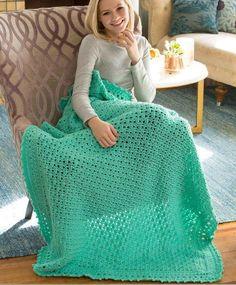 Staying Home Crochet Blanket | AllFreeCrochetAfghanPatterns.com ~ intermediate ~ FREE CROCHET pattern