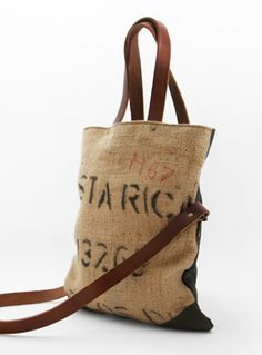 Lost Property of London coffee sack tote. LOVE these bags!!