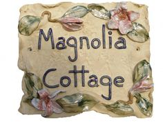 Magnolia Design House Name Plaques, House Names, Cottage Names, Magnolia Design, Pottery Ideas, Beautiful Day, Cottages, Numbers, Collections