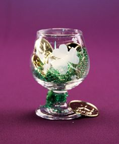 Glass etch brandy glasses, shot glasses, cordials or wine glasses with Shamrocks for an Irish wedding or St Patty's Day party w/ Armour Products glass etching cream & stencils @  www.etchworld.com