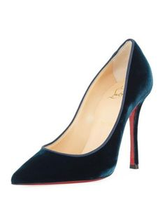 4838109eeee Details about Christian Louboutin Pink Decoltish Suede 100mm Red Sole Pumps