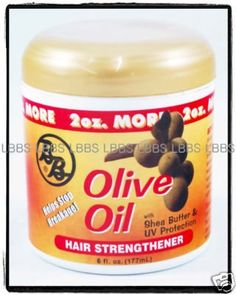 BB Olive Oil Hair Strengthener W/ Shea Butter UV Protection, 6 Oz by Bronner Bros *** This is an Amazon Affiliate link. See this great product.