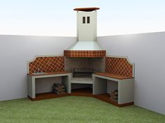 barbecue designs in the garden Design Barbecue, Grill Design, Patio Design, House Design, Outdoor Barbeque, Outdoor Oven, Backyard Retreat, Backyard Patio, Parrilla Exterior