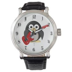 Funny penguin with guitar