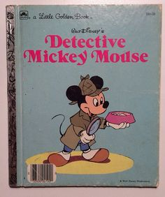 Walt Disney's Detective Mickey Mouse Vintage by ReclaimYouth