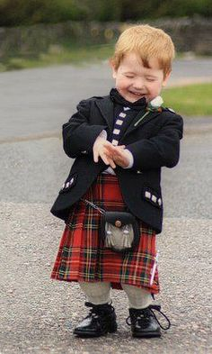 A tiny bundle of pure kilted joy... wish we were Scottish!