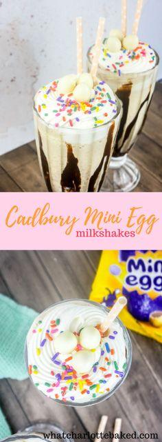 Mini Egg Recipes, Fudge Recipes, Easter Recipes, Candy Recipes, Chocolate Recipes, Milkshake Drink, Milkshake Recipes, Easter Bunny Cake, Easter Food