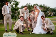 Golf bridal party