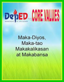 Teacher Fun Files: DepEd Vision, Mission and Core Values Poster Missions Bulletin Board, Elementary Bulletin Boards, Bulletin Board Design, Teacher Bulletin Boards, Birthday Bulletin Boards, Bulletin Board Display, Birthday Chart Classroom, Classroom Welcome, Classroom Rules Poster