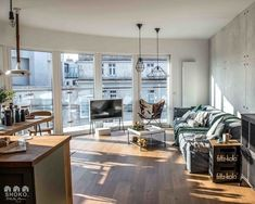 A Nordic style apartment with industrial touches - Decoration for Home House Decoration Items, Diy Home Decor, Living Room Modern, Living Room Decor, Basement Bar Designs, Interior Windows, Piece A Vivre, Nordic Style, Scandinavian Interior