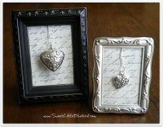 6 Simple and Sweet DIY Framed Valentine Decorations ~ Hearts and Keys :: Hometalk