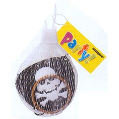 Pirate Net Bag (includes 2 pcs of pirate eye patch and pirate earrings in a pack)