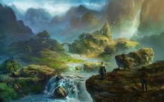 Peaceful valley by xiaoxinart.deviantart.com on @deviantART