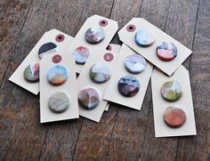 bookhou at home - watercolor pins