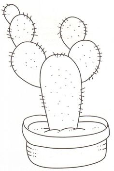Resultado de imagen de cactus en tela moldes To be able to have a wonderful Modern Garden Decoration, it is … Cactus Drawing, Watercolor Cactus, Cactus Art, Cactus Fabric, Cactus Pics, Cactus Painting, Cactus Decor, Embroidery Stitches, Embroidery Patterns