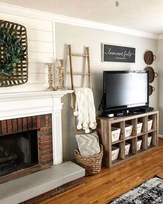 43 Rustic Farmhouse Living Room Design and Decor Ideas for Your Home Living Room Kitchen, Living Room Modern, My Living Room, Home And Living, Living Room Designs, Small Living, Living Room Hutch, Tv Stand Ideas For Living Room, Living Room Decor Themes
