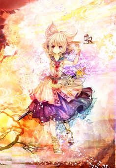 girl illustration art anime
