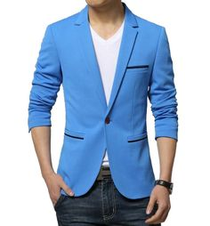Contemporary Fitted Blazer Material: Cotton, Polyester