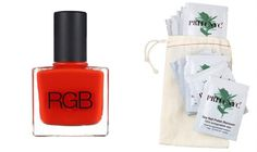 Paint and Remove Polish Without Damaging Your Nails: Thanks to new favorites @Priti NYC Soy Polish Remover and RGB Nail Color, I'm in a painting mood.