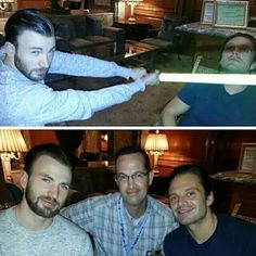 Chris and Seb<<< The Darth soldier and Captain Jedi<<<<that is hilarious
