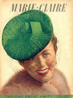 A beautiful green vintage tilt hat, that I would happily sport in a New York minute. #vintage #hats #fashion #green #magazines