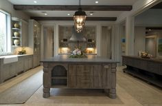 Kitchen island with calacatta gold marble and breakfast nook with custom bench. Description from pinterest.com. I searched for this on bing.com/images