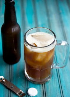 how to make your own root beer... I really want to give this a try.  My mind is wondering what it would taste like with honey instead of sugar.