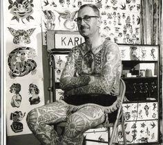 Bert Grimm X f ull body tattoo Old Tattoos, Life Tattoos, Vintage Tattoos, Tatoos, 4 Tattoo, Full Body Tattoo, Tattoo Pics, Original Tattoos, Bert Grimm