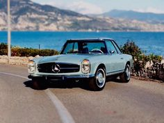 MERCEDES-BENZ 280SL PAGODA #1969 #Mercedes #MercedesVintage #MercedesBenz #MercedesLogo #CollectableCar #W113 #Bluecar #Design #Luxury #HorsePower #Supercars #Performance #Awesome #Benz #Luruxious #Coupe http://www.petrolicious.com/why-the-mercedes-benz-280sl-pagoda-is-collectable