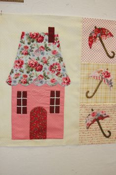 Sweetheart Houses Quilt Block 2