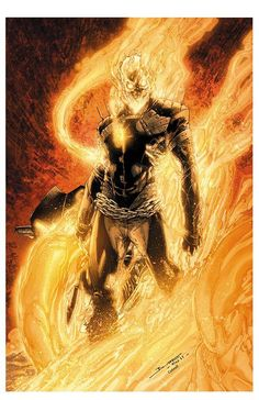 Ghost Rider by Brett Booth Comic Book Heroes, Marvel Heroes, Marvel Dc Comics, Comic Books Art, Ghost Rider Johnny Blaze, Ghost Rider Marvel, Brett Booth, Badass Drawings, Ghost Rider Pictures
