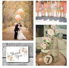 Color Combo: Rustic Peach Wedding Palette
